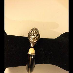 Miriam Salat sterling Silver Lion Head Bracelet